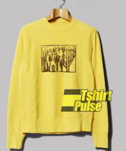 Yellow Cactus Graphic sweatshirt