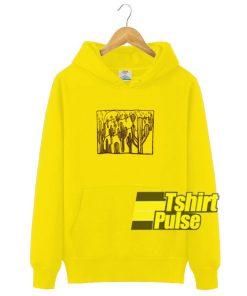 Yellow Cactus Graphic hooded sweatshirt clothing unisex hoodie