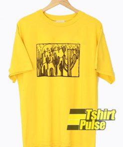 Yellow Cactus Graphic t-shirt for men and women tshirt