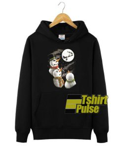Christmas Snowman Graphic hooded sweatshirt clothing unisex hoodie