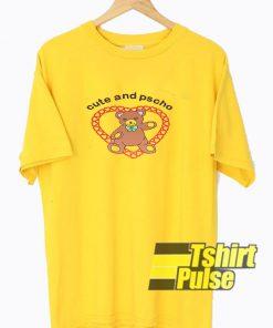 Cute And Psycho Cartoon t-shirt for men and women tshirt