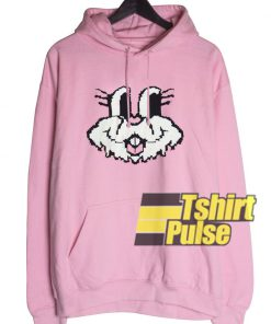 Cute Bunny Face hooded sweatshirt clothing unisex hoodie