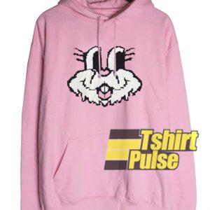 Cute Bunny Face hooded sweatshirt clothing unisex hoodie