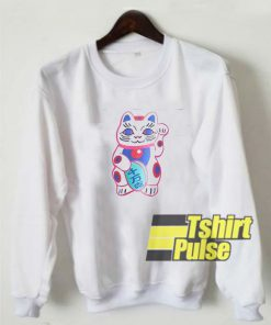 Cute Lucky Cat sweatshirt