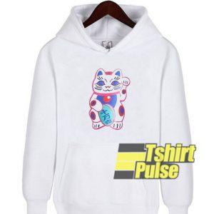Cute Lucky Cat hooded sweatshirt clothing unisex hoodie