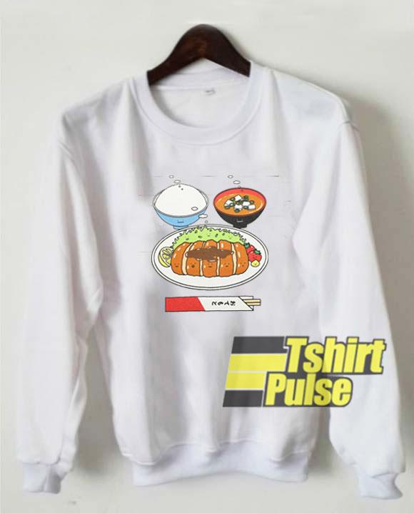 Japanese Tonkatsu Teishoku sweatshirt