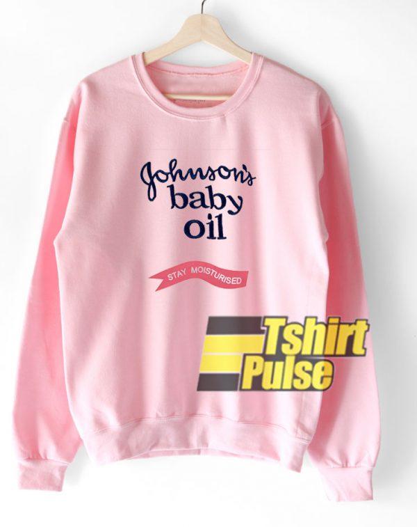 Johnson's Baby Oil Printed sweatshirt