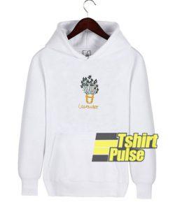 Lavender Pot Print hooded sweatshirt clothing unisex hoodie