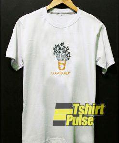 Lavender Pot Print t-shirt for men and women tshirt