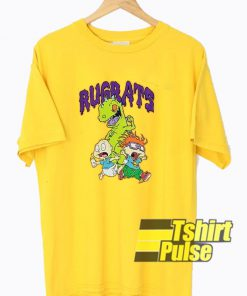 Rugrats Graphic Yellow t-shirt for men and women tshirt