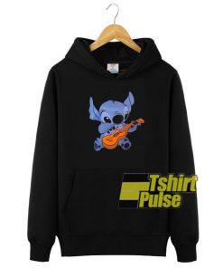 Stitch Playing Guitar hooded sweatshirt clothing unisex hoodie