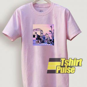 Vaporwave Tokyo City Anime t-shirt for men and women tshirt