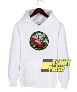 Vintage Vulgar Santa hooded sweatshirt clothing unisex hoodie