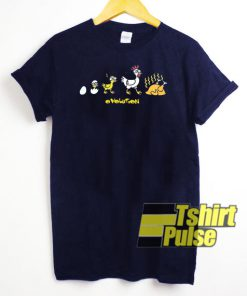 Ovolution Chicken t-shirt for men and women tshirt