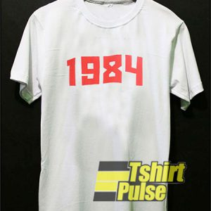 1984 Font Graphic t-shirt for men and women tshirt