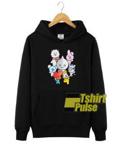 BTS Member Cartoonhooded sweatshirt clothing unisex hoodie