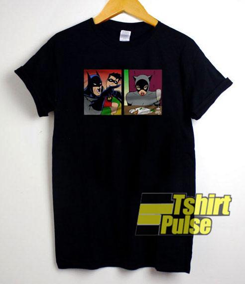 Batman Mashup Woman Yelling Cat t-shirt for men and women tshirt