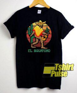 Bigfoot El Squatcho Vintage t-shirt for men and women tshirt
