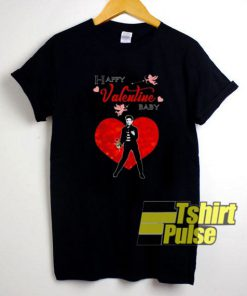 Elvis Presley Happy Valentine Baby t-shirt for men and women tshirt