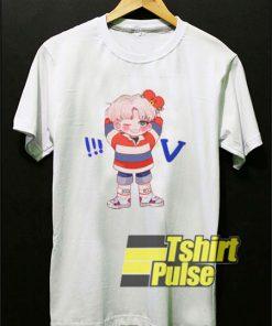 Funny V BTS Cartoon t-shirt for men and women tshirt