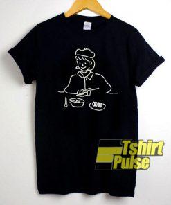 Girl Eating Art t-shirt for men and women tshirt