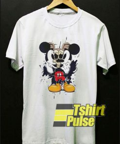 Mickey Mouse Torn Skull t-shirt for men and women tshirt