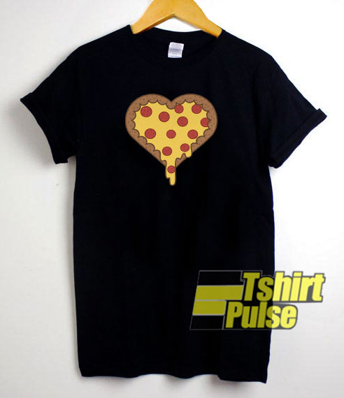 Pizza Heart Melted t-shirt for men and women tshirt