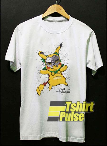 Pokemon Pikachu Mask Skull t-shirt for men and women tshirt
