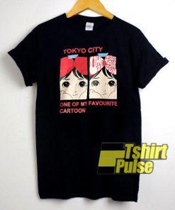 Tokyo City Cartoon t-shirt for men and women tshirt