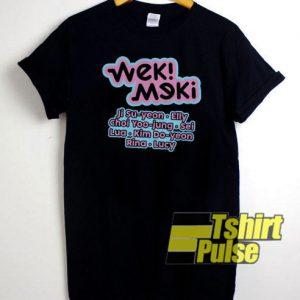 Weki Meki Graphic t-shirt for men and women tshirt