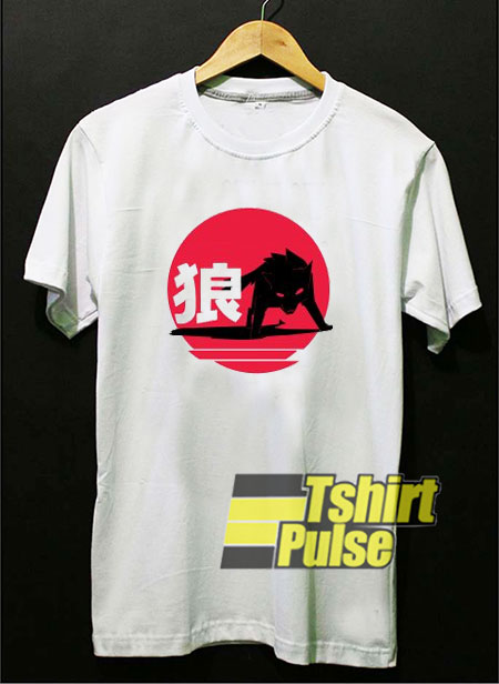 Wolf Art Japanese t-shirt for men and women tshirt