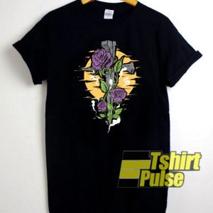 A Cross With Flower t-shirt for men and women tshirt