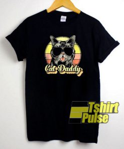 Cat Daddy Cartoon t-shirt for men and women tshirt