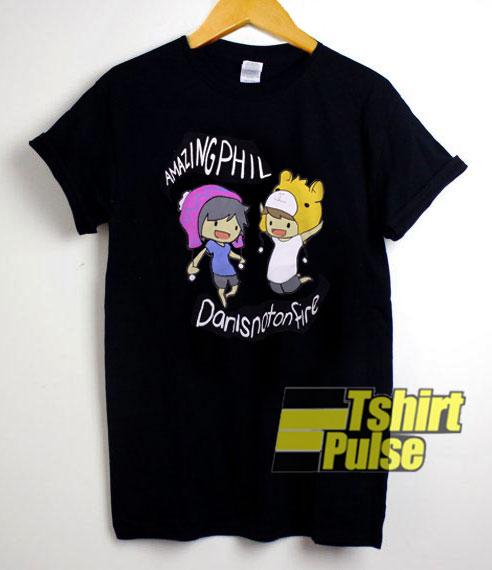 Danis And Phil Cartoon t-shirt for men and women tshirt