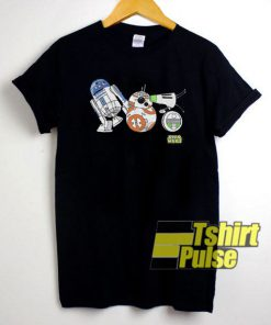Droids R2-D2 BB-8 D-O Star Wars t-shirt for men and women tshirt
