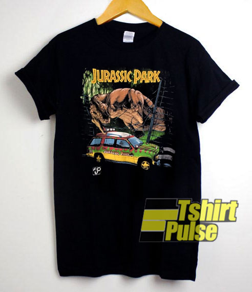 Jurassic Park Jeep T-Rex Movie t-shirt for men and women tshirt