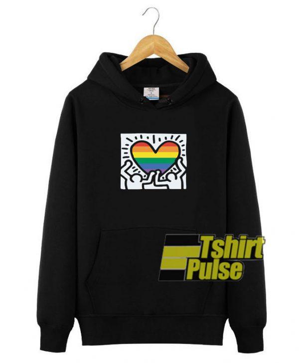 K Haring Pride Month hooded sweatshirt clothing unisex hoodie