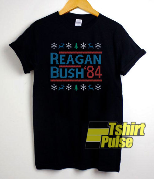 Reagan Bush 84 Christmas Print t-shirt for men and women tshirt