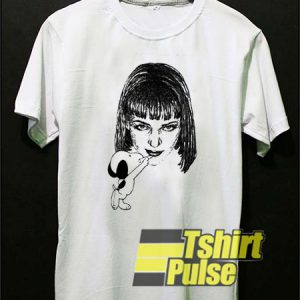 Snoopy Drawing Mia Wallace t-shirt for men and women tshirt