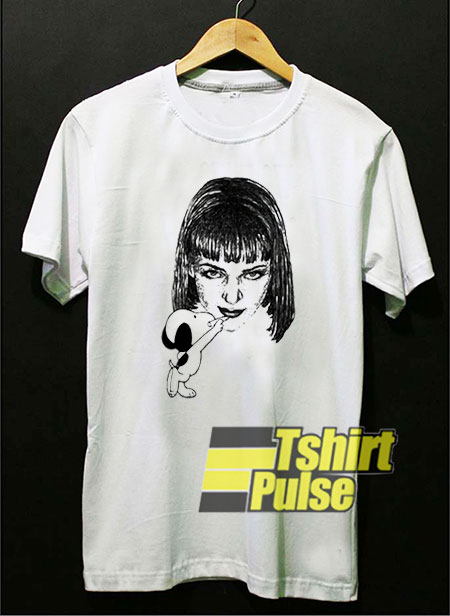 Snoopy Drawing Mia Wallace t shirt for men and women tshirt