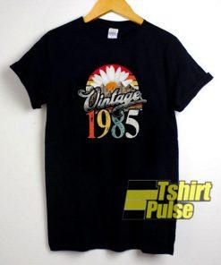 1985 Birthday Daisy Flower Vintage t-shirt for men and women tshirt