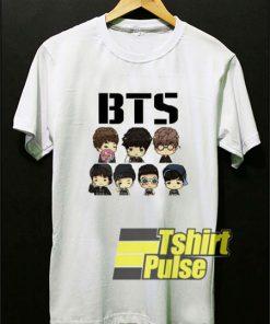 BTS Chibi Cartoon Art t-shirt for men and women tshirt