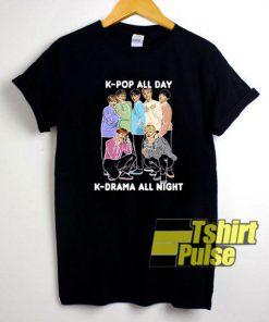BTS K-pop All Da t-shirt for men and women tshirt