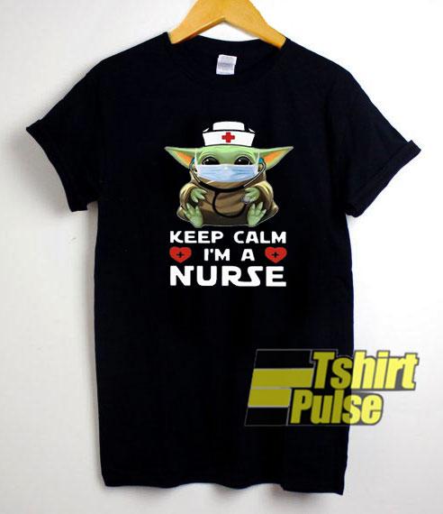 Baby Yoda a Nurse t-shirt for men and women tshirt