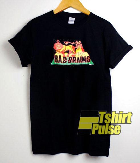 Bad Brains Rasta Lion t-shirt for men and women tshirt