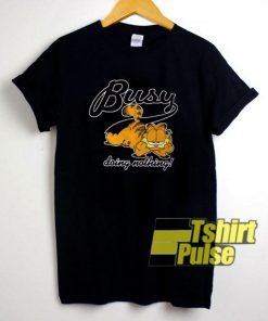 Busy Doing Nothing Garfield t-shirt for men and women tshirt