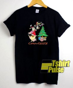 CN Cow And Chicken Christmas t-shirt for men and women tshirt