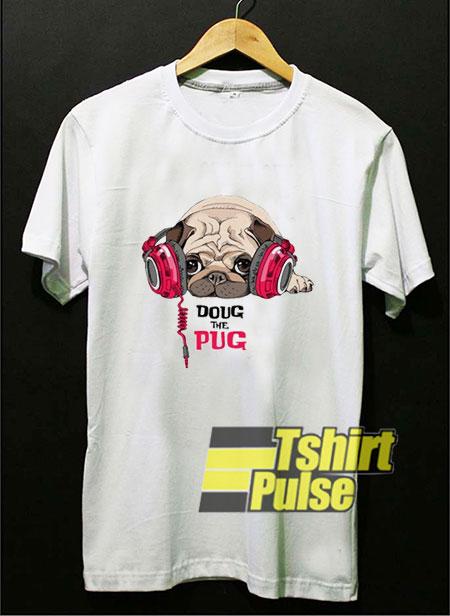 Doug The Pug Print t-shirt for men and women tshirt