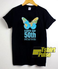 Earth Day 50th Anniversary Butterfly t-shirt for men and women tshirt
