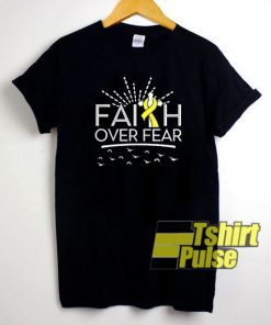 Faith Over Fear Yellow Ribbon t-shirt for men and women tshirt